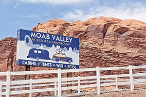 Moab Valley RV Resort & Campground :: Situated along the Colorado River & minutes away from Arches National Park! RV & tent sites, cottages, & glamper cabins! Onsite pool, oversized checker & chess, wifi, & more!
