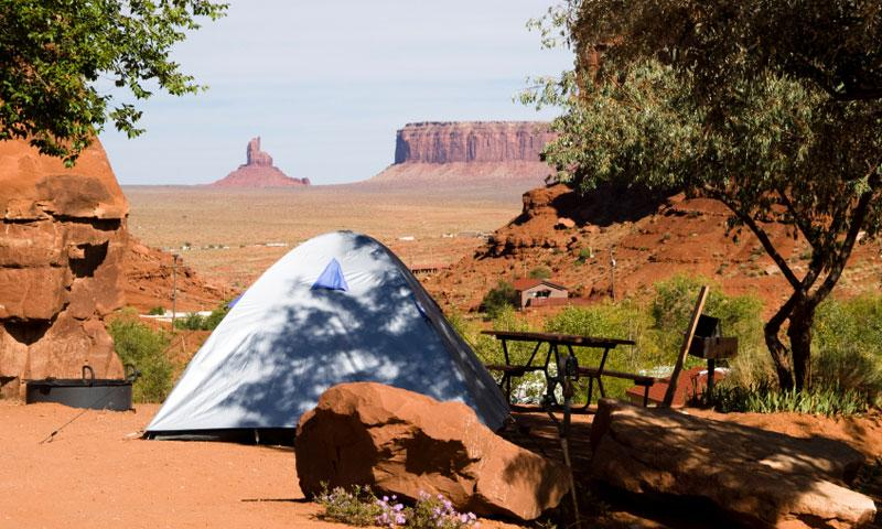 Tent Camping in Monument Valley