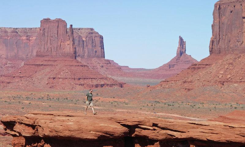 Hiking in Monument Valley