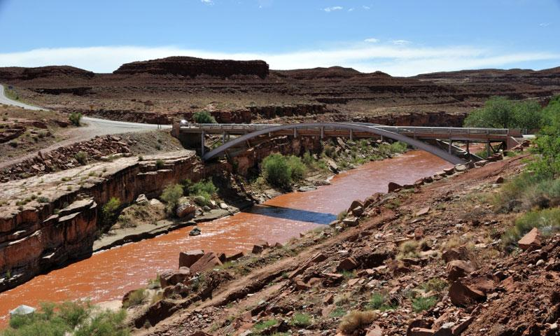 Bridge over the San Juan River in Mexican Hat Utah