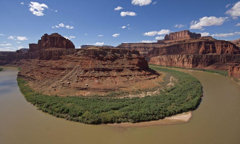 Colorado River from Potash Road in Moab Utah