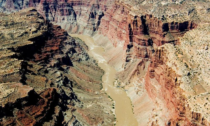 Colorado River flows through Cataract Canyon near Moab