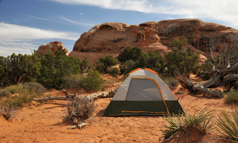 Camping in Arches National Park