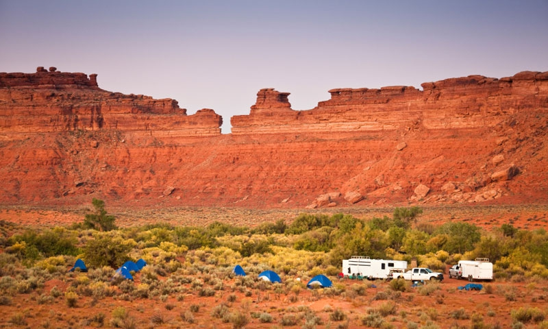 Group Camping in Arches National Park