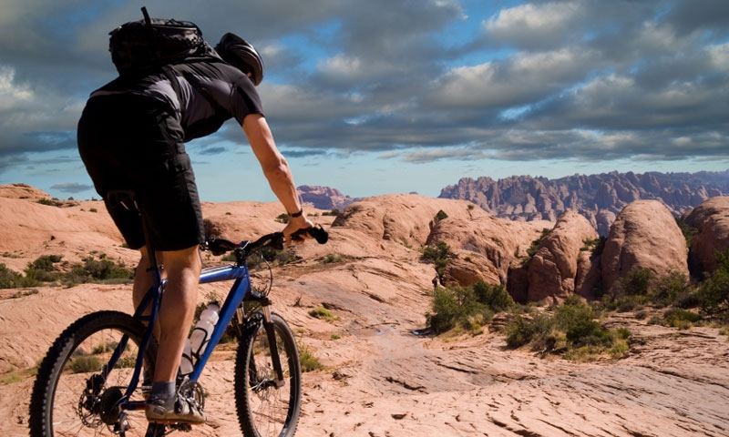 Biking the Poison Spider Mesa Trail in Moab