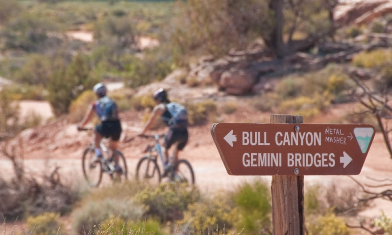 Gemini Bridges Mountain Biking Moab Utah