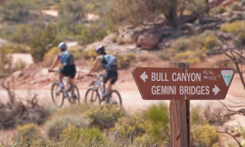 Gemini Bridges Trail Moab Mountain Biking