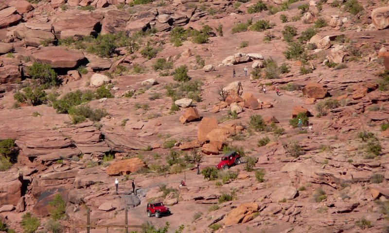 Jeeps on the Moab Rim Trail