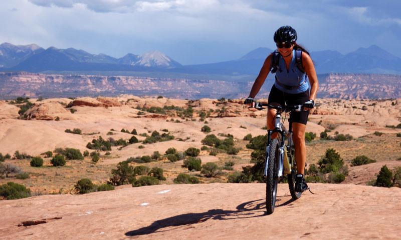 Riding the Slickrock Trail in Moab Utah