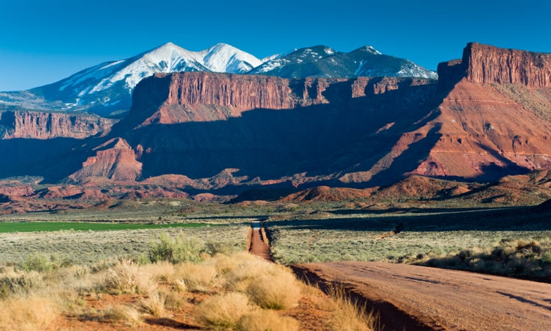 Road to Fisher Towers in Moab