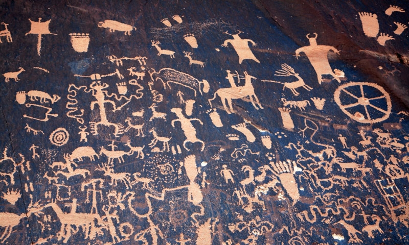 Moab Petroglyphs Indian Rock Art Alltrips