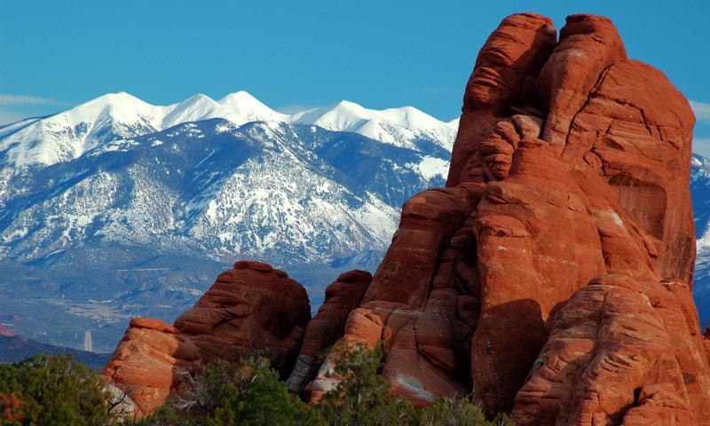 La Sal Mountains Moab Utah