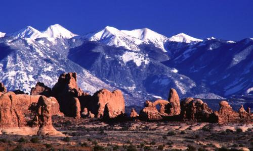 la sal mountains in utah