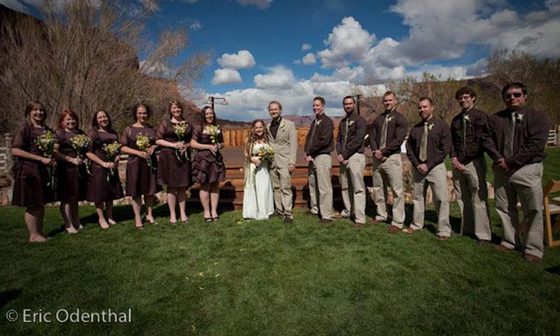 A Moab Utah Wedding Party