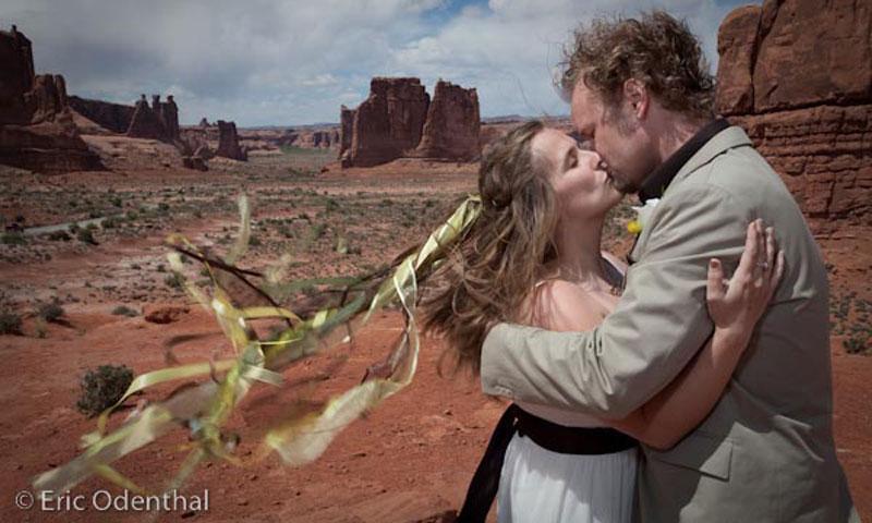 A Kiss above a Moab Utah Landscape