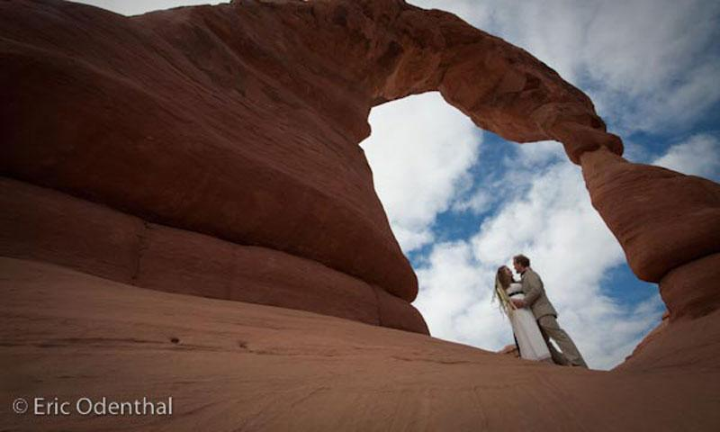 Wedding under Delicate Arch in Arches National Park