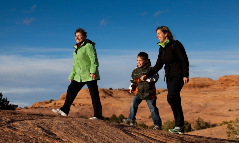Family Hiking in Moab