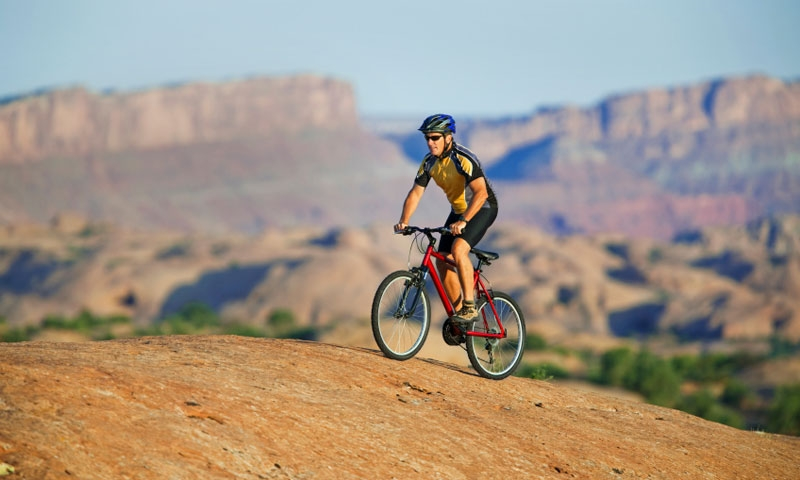 Riding the Slickrock Trail in Moab Utah