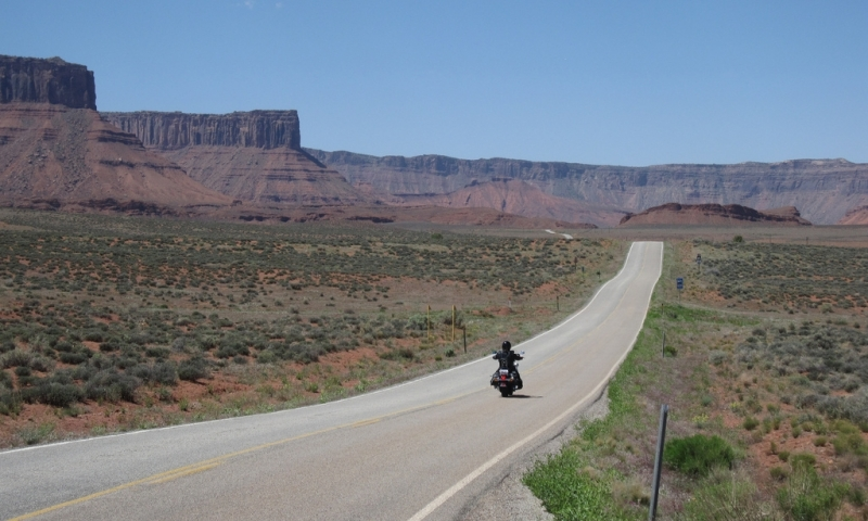 Motorcycle in Castle Valley near Moab