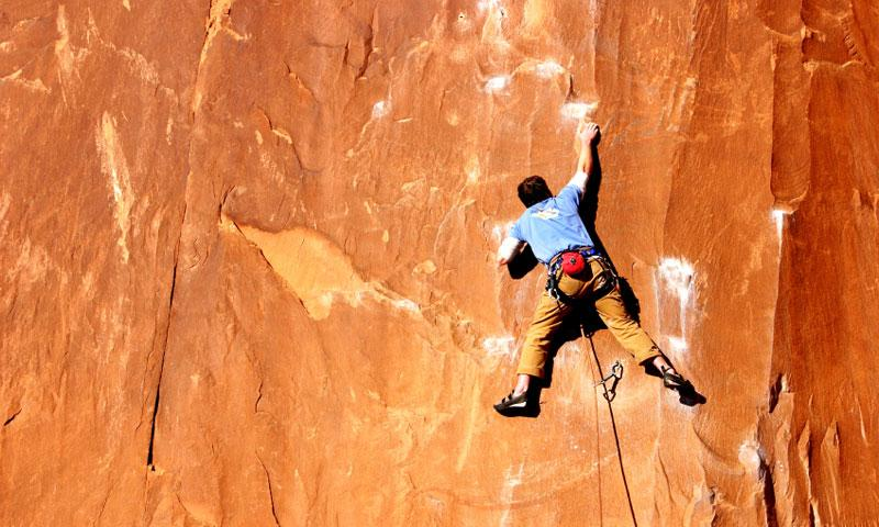 Climbing the Wall Street area near Moab Utah
