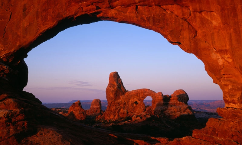 Turret Arch in the Window Section in Arches National Park