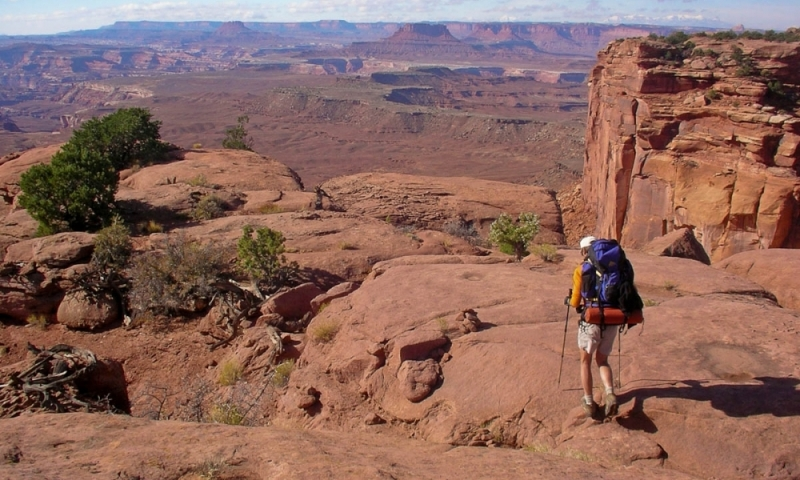 Canyonlands National Monument Utah Hogsback Trail Hiking Backpacking