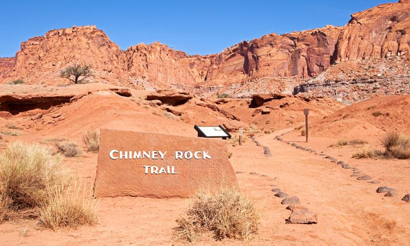 Chimney Rock Hiking Trail in Capitol Reef National Park